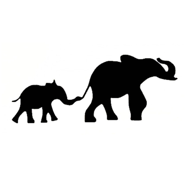 640x640 156cm Elephant Family Cozy Car Sticker Decals Motorcycle