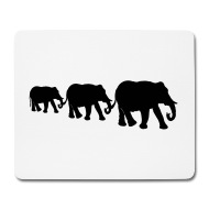 190x190 Elephant Family, Silhouettes. By Christine Krahl Spreadshirt