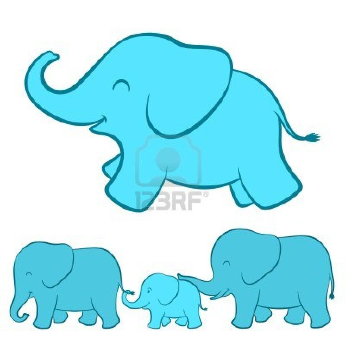 1200x1200 Cartoon Baby Elephant Family Inspiration For Cute Eye On The Baby