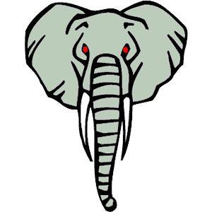 Elephant Head Silhouette