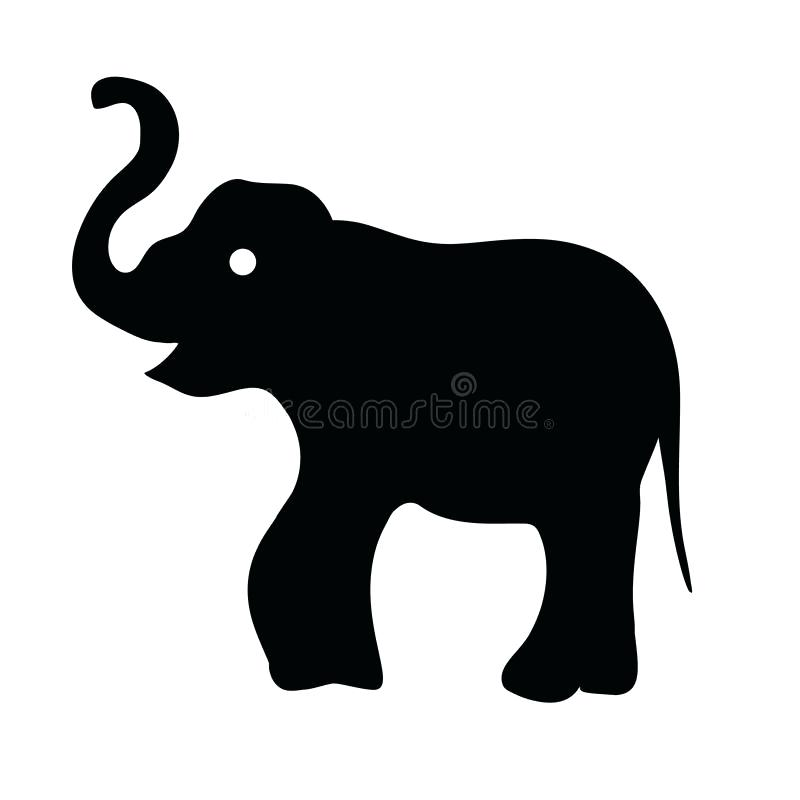 800x800 Elephant Outline Drawing Drawing Outline Outline Elephant Drawing