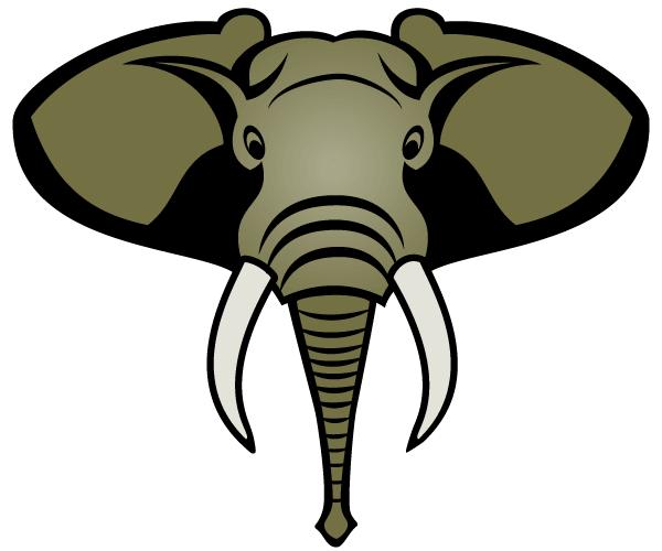 600x500 Vector Elephant Head Download Free Vector Art Free Vectors
