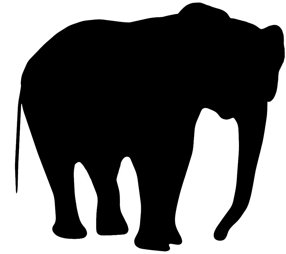 elephant head silhouette at getdrawings com free for personal use rh getdrawings com
