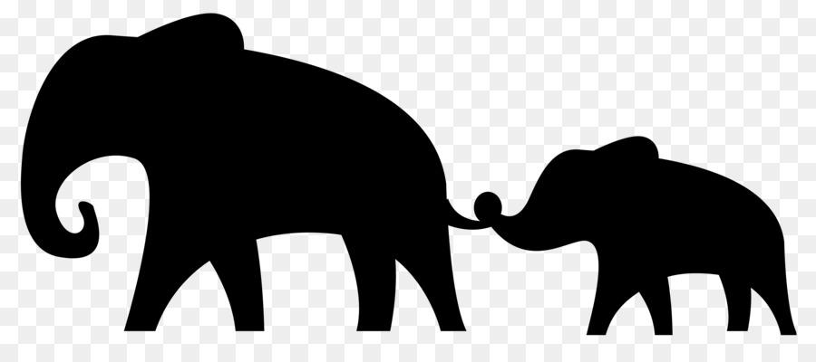 900x400 African Elephant Silhouette Clip Art