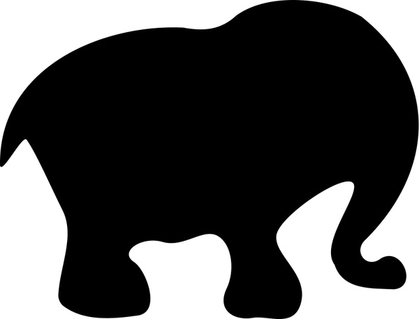 600x457 Cartoon Elephant Silhouette Free Vector In Open Office Drawing Svg