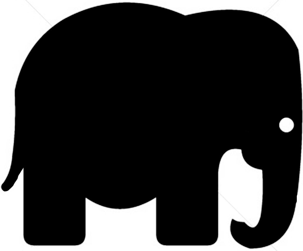 elephant silhouette baby at getdrawings com free for personal use