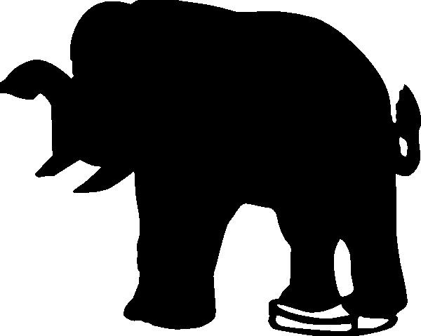 600x479 Elephant Silhouette Clip Art