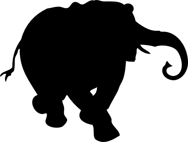 600x453 Elephant Silhouette Clip Art Free Vector In Open Office Drawing