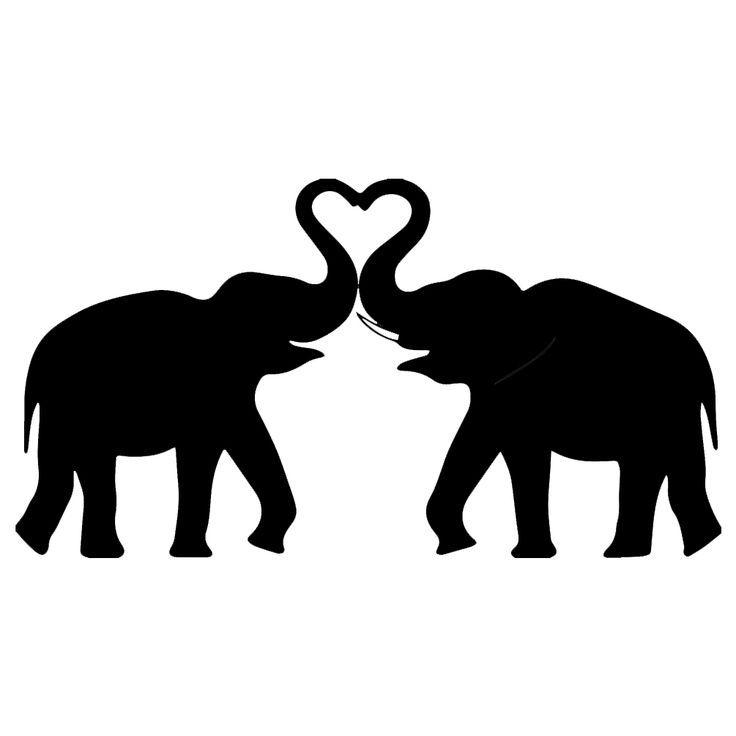 736x736 Elephant Silhouette