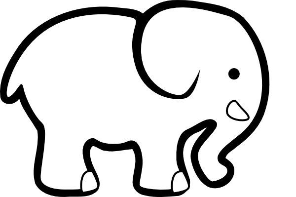 600x399 Elephant Silhouette Clip Art