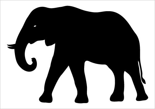 501x351 Elephant Silhouette Silhouette Graphics Animal Silhouette