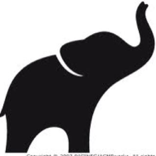 320x320 Elephant With Trunk Up Clipart