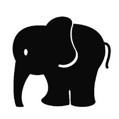 236x236 Baby Elephant Silhouette Clip Art