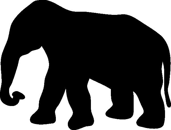 600x455 Elephant Silhouette Clip Art