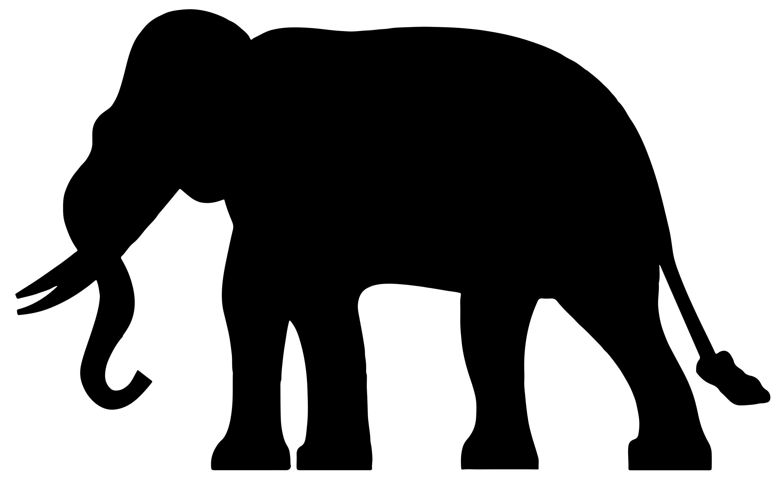 2643x1614 Elephant Silhouette Clipart