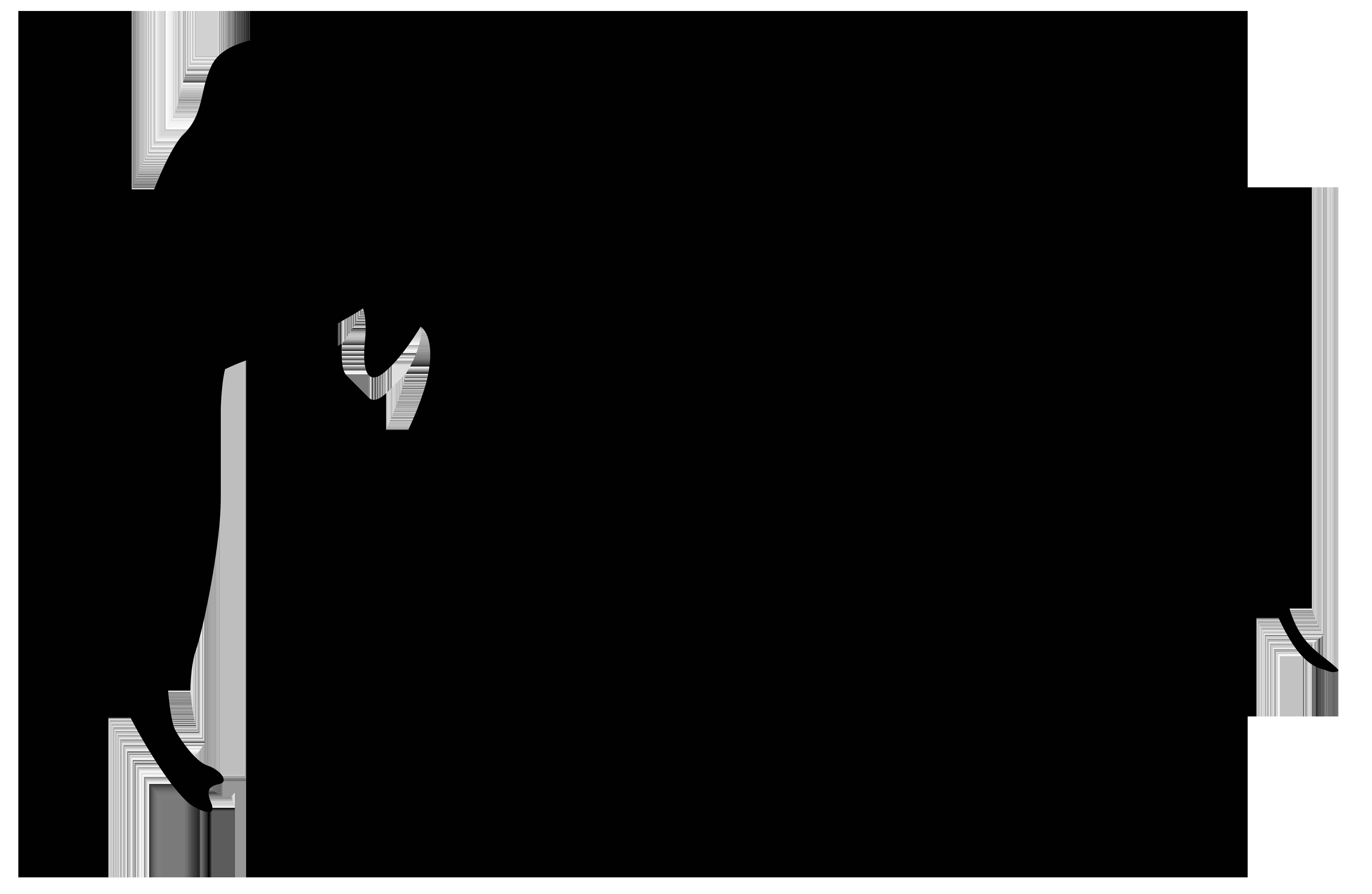 8000x5211 Elephant Silhouette Png Clip Art Imageu200b Gallery Yopriceville