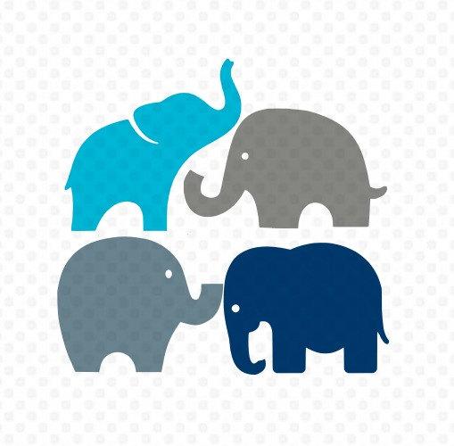 509x500 Elephants Svg, Elephant Svg, Elephants Silhouette Svg, Svg Files