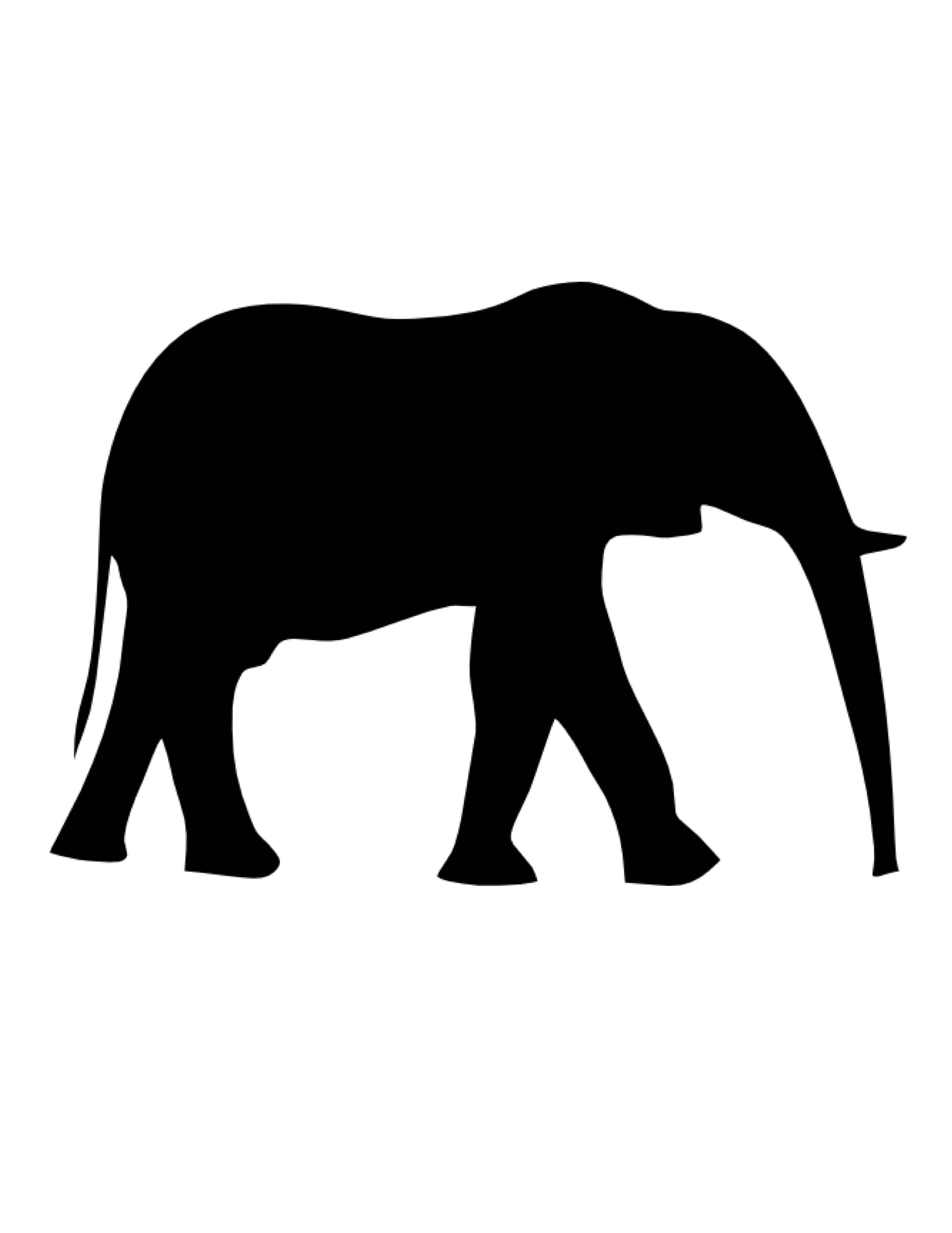 2318x3000 Pack Of 3 Elephant Stencils Made From 4 Ply Mat Board, 11x14, 8x10