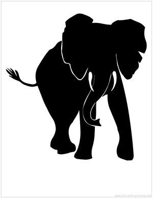 300x388 African Elephant Silhouette Silhouettes Elephant