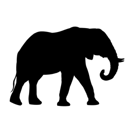 270x270 African Elephant Silhouette Stencil Free Stencil Gallery