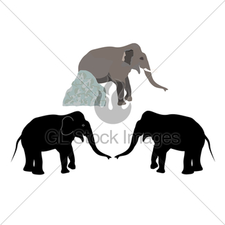 325x325 Elephant Uprooting A Tree Gl Stock Images