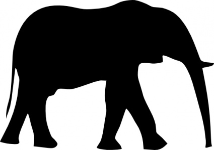 425x299 Elephant Outline Tattoo Vector