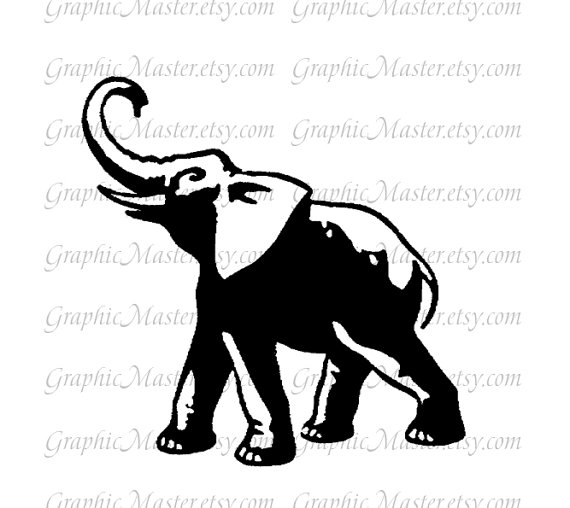 570x508 Elephant Silhouette Png Jpeg Tattoo Digital Collage Sheet