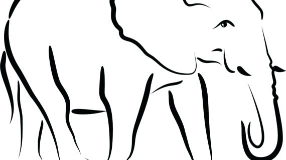 570x320 Simple Drawing Of An Elephant Images For Elephant Head Profile