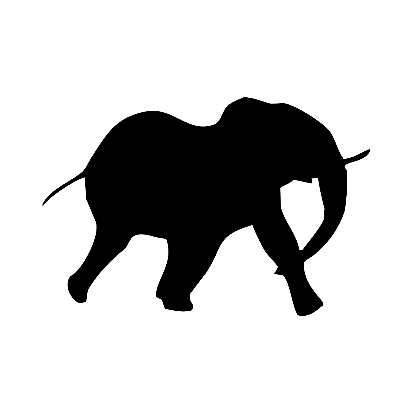 Elephant Silhouette Tattoo at GetDrawings.com | Free for personal ...