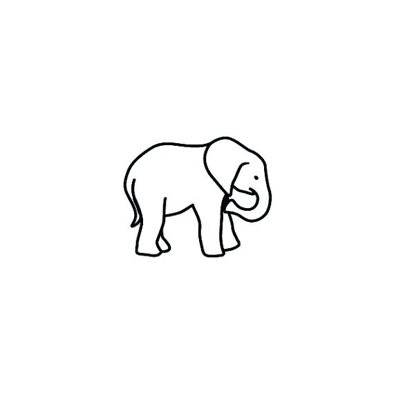 570x570 Baby Elephant Face Outline Outline Elephant Tattoos Outline