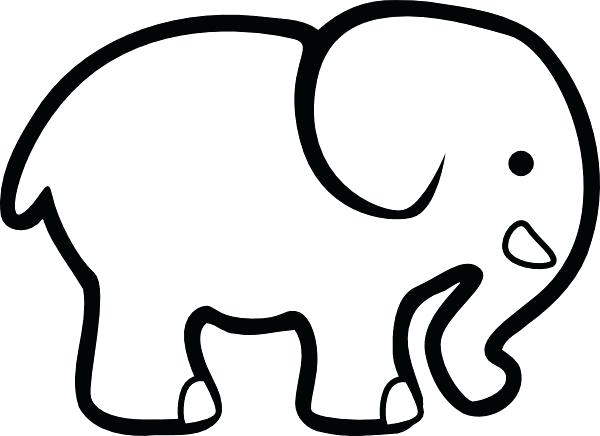 600x436 Elephant Outline Stock Images Royalty Free Images Vectors Indian