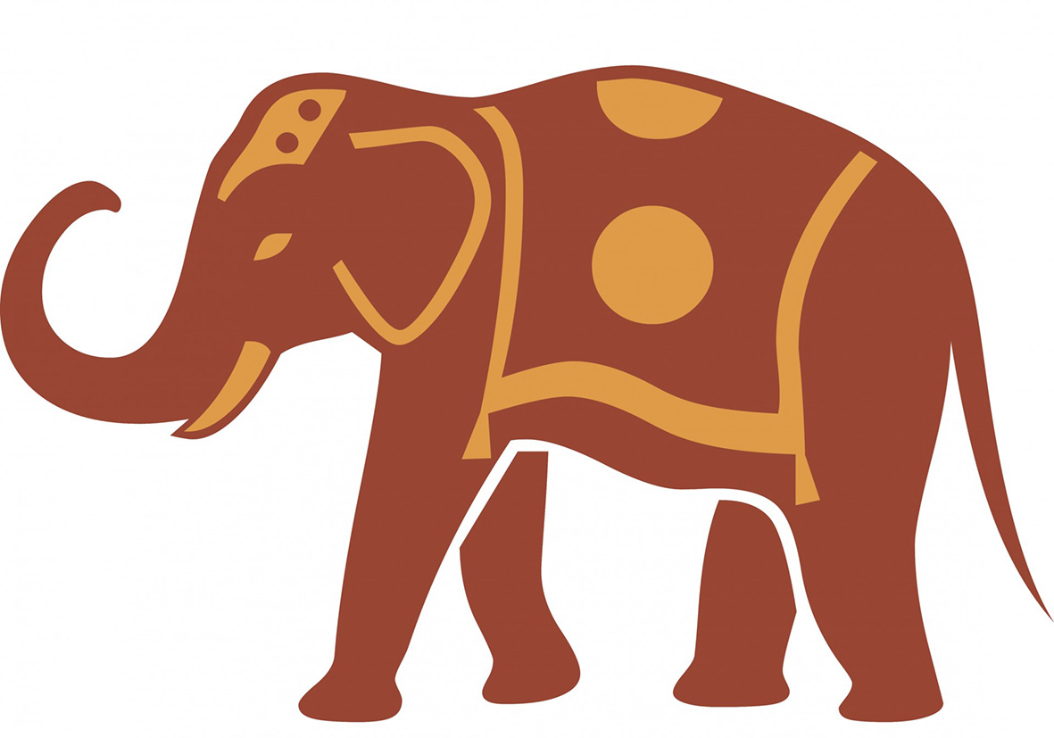 1181x827 Elephant Silhouette Trunk Up Clipart