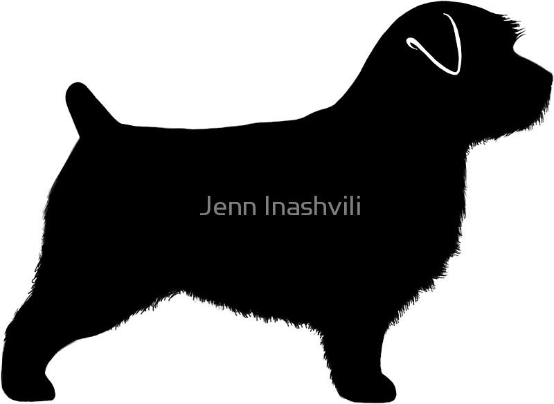 800x584 Norfolk Terrier Silhouette(S) Stickers By Jenn Inashvili Redbubble