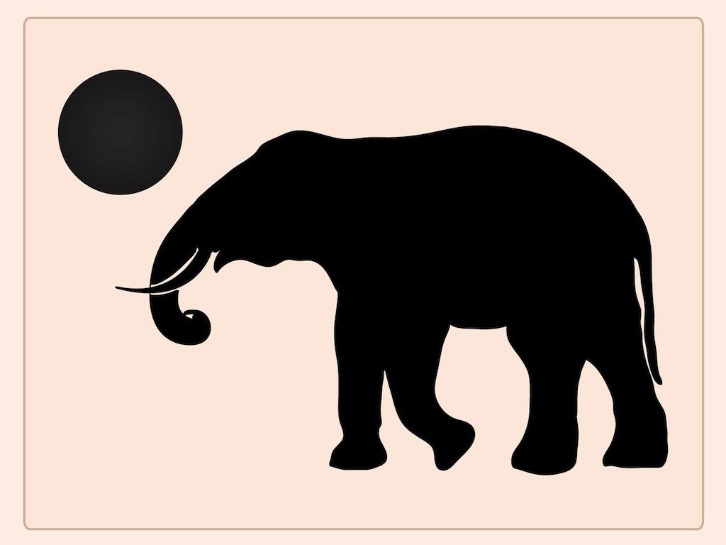 1024x768 Playing Elephant