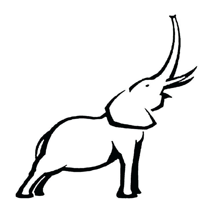 736x736 Outline Of A Elephant