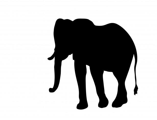 615x471 Cute Elephant Silhouette Clip Art Clipart Panda