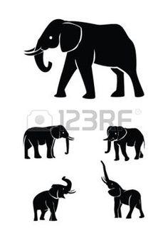 236x337 Elephant Silhouette Elephant Art Ideas Elephant