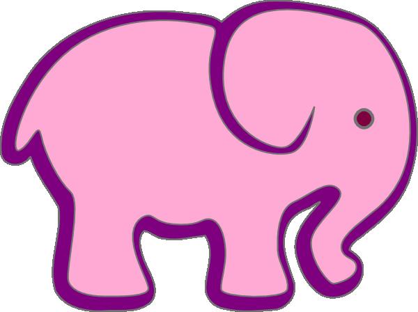 600x448 Elephant Clipart Purple