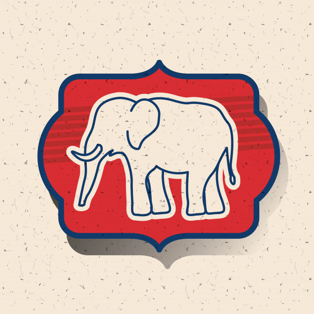 626x626 Elephant Inside Frame Icon. Vote Election Nation And Government