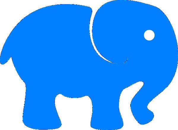 600x439 Baby Elephant Vector