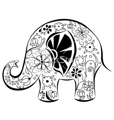 380x400 Drawn Asian Elephant Flower 3249267