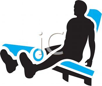 350x297 Silhouette Of A Man Using A Leg Machine