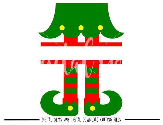 570x438 Split Elf Legs Svg Dxf Eps Png Files. Digital Download