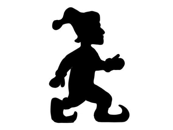 570x427 Running Elf Design Silhouette Digital Download Original