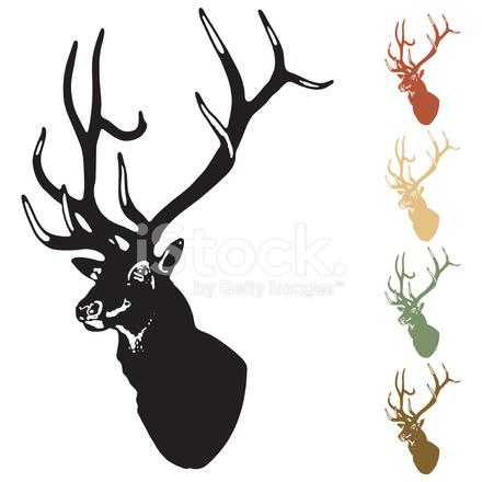 440x440 Elk Silhouette Stock Vector