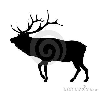400x373 Elk Silhouette By Lightvision, Via Dreamstime Wood Burning