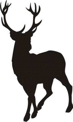 236x395 Elk Head Outline