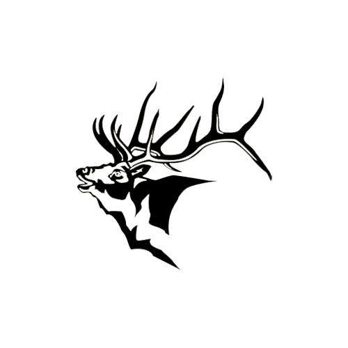 500x500 Vista Bugling Elk Decal 6x6 Anamil Print Elk And Craft
