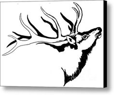 236x196 Art Print His Majesty By Carolyn Mock 19x25in Elk
