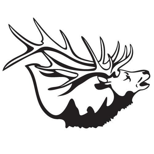 500x500 Bugling Elk Decal